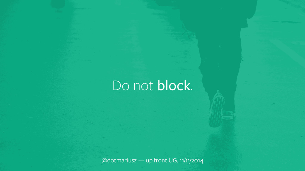 Do not block. @dotmariusz — up.front UG, 11/11/...