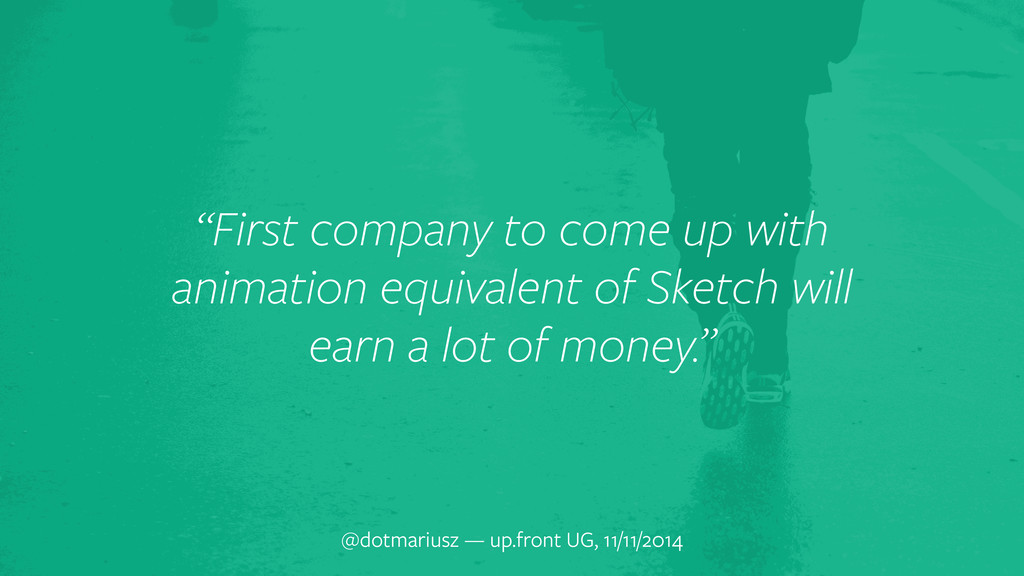 """""""First company to come up with animation equiva..."""