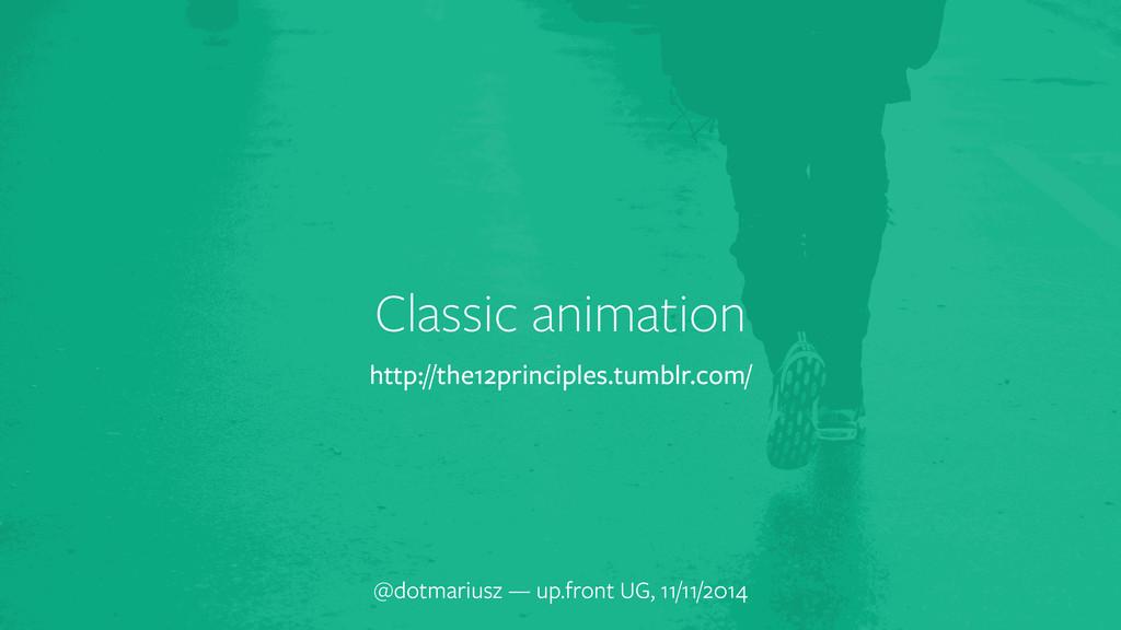 Classic animation @dotmariusz — up.front UG, 11...