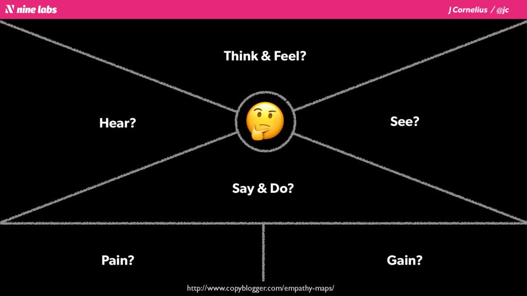 J Cornelius / @jc Think & Feel? See? Say & Do? ...