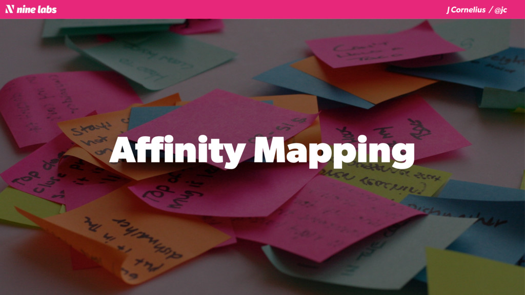 J Cornelius / @jc Affinity Mapping