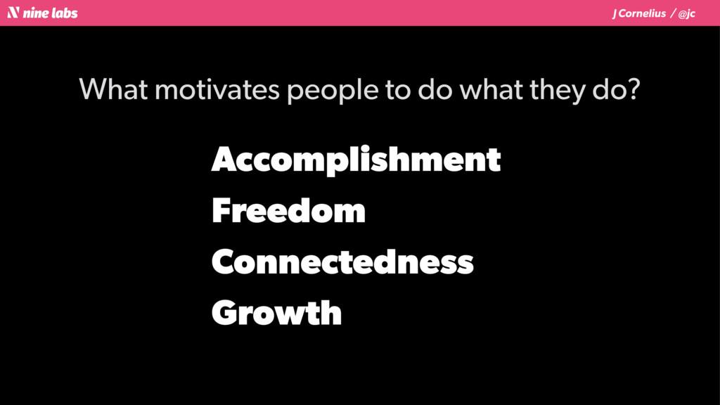 J Cornelius / @jc What motivates people to do w...