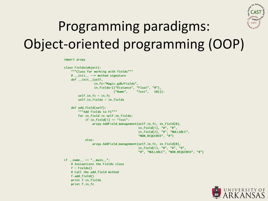 Programming paradigms: Object-oriented programm...