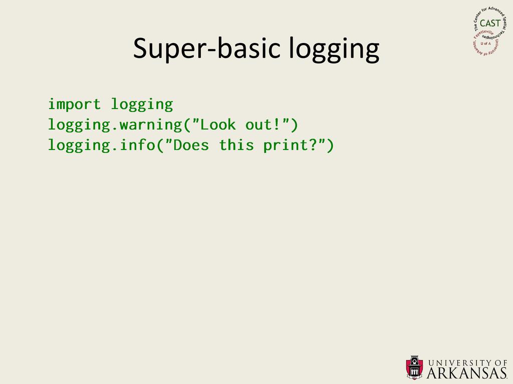 Super-basic logging