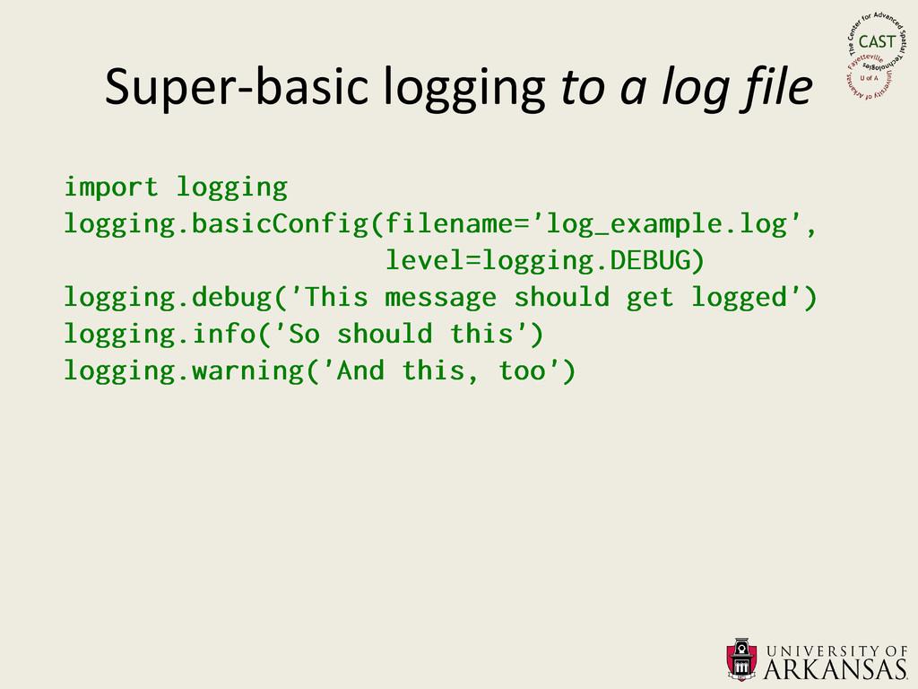 Super-basic logging to a log file