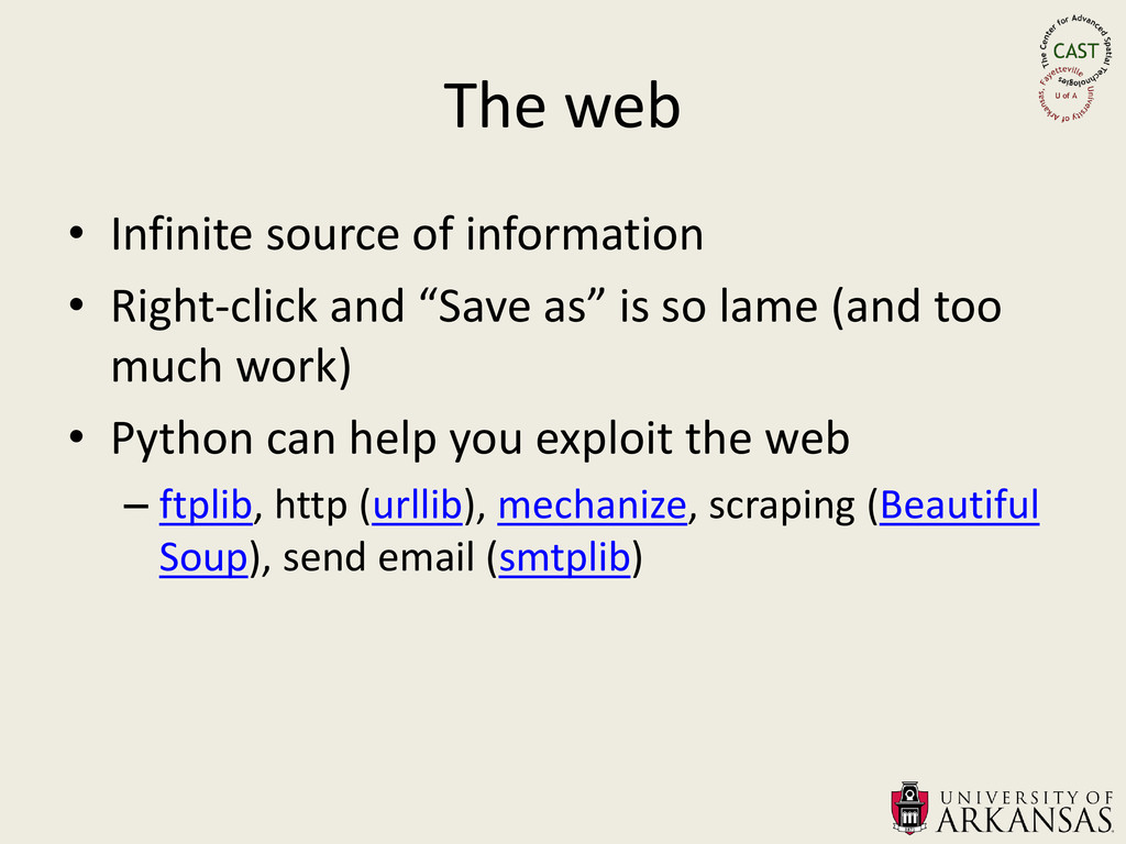 The web • Infinite source of information • Righ...
