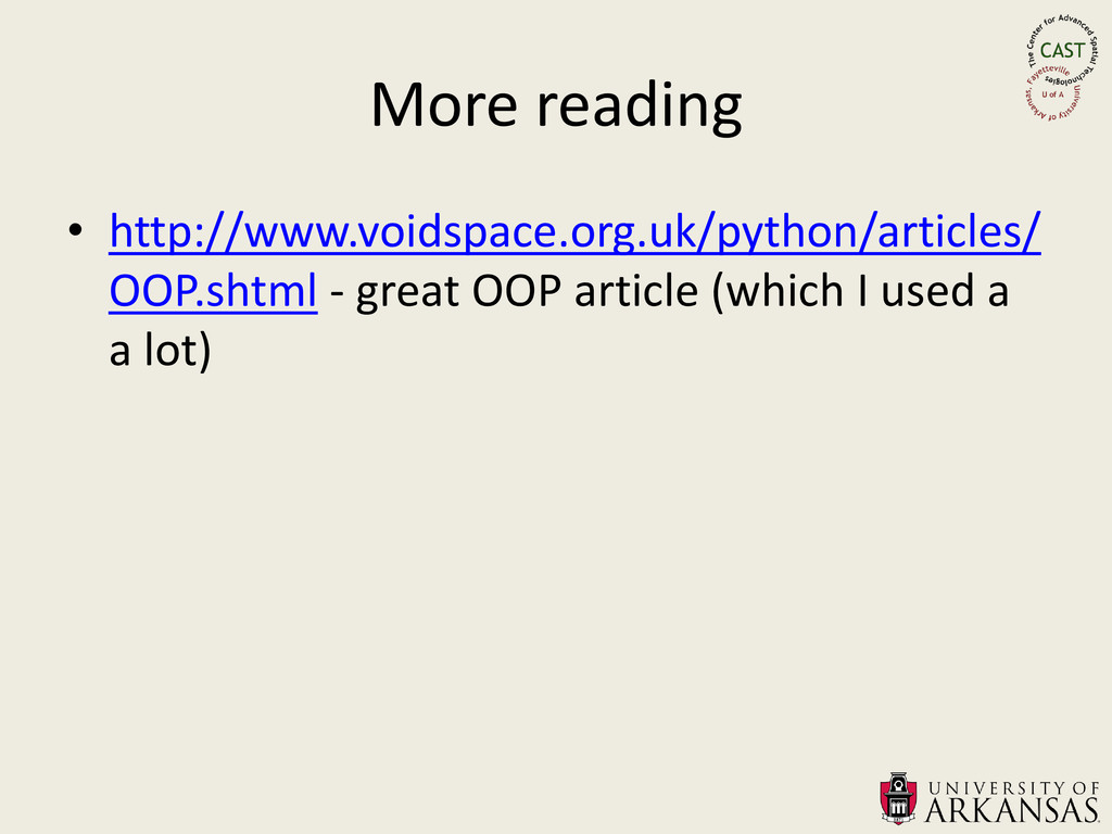 More reading • http://www.voidspace.org.uk/pyth...