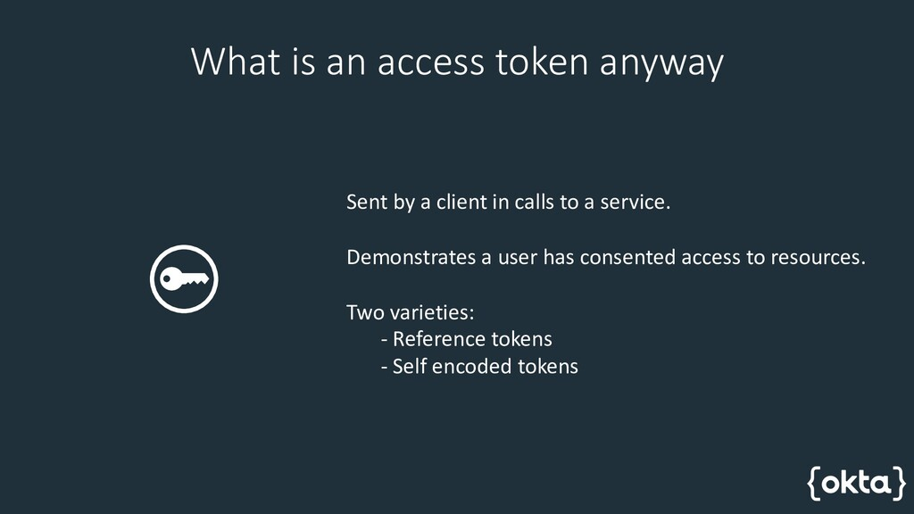 What is an access token anyway Sent by a client...