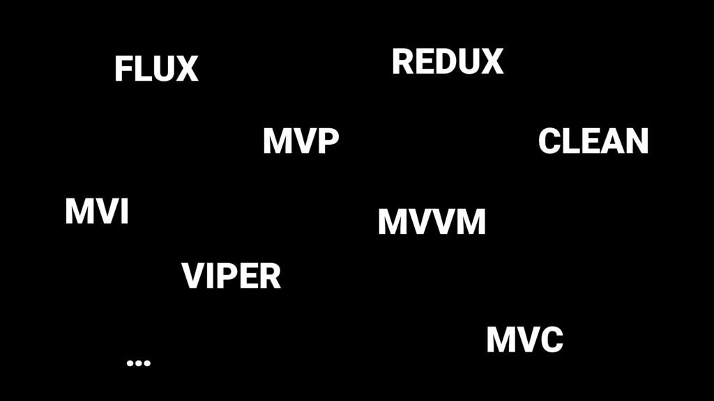 MVP MVVM VIPER FLUX REDUX CLEAN MVC … MVI