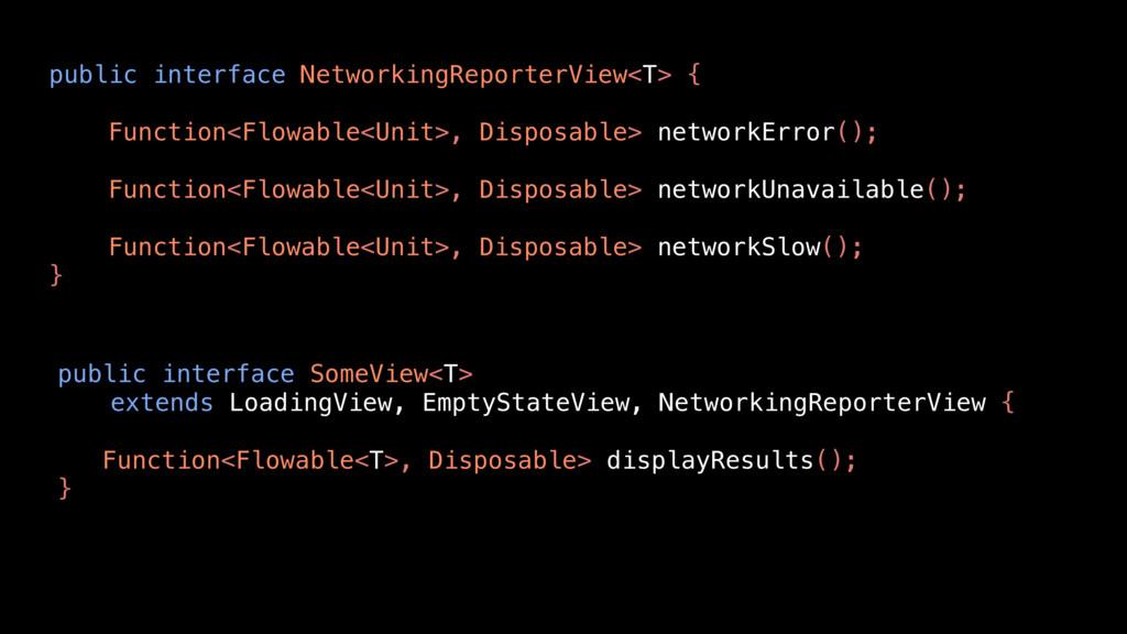 public interface SomeView<T> extends LoadingVie...