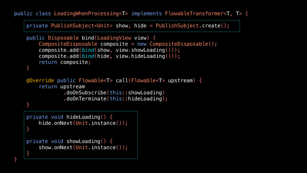 public class LoadingWhenProcessing<T> implement...