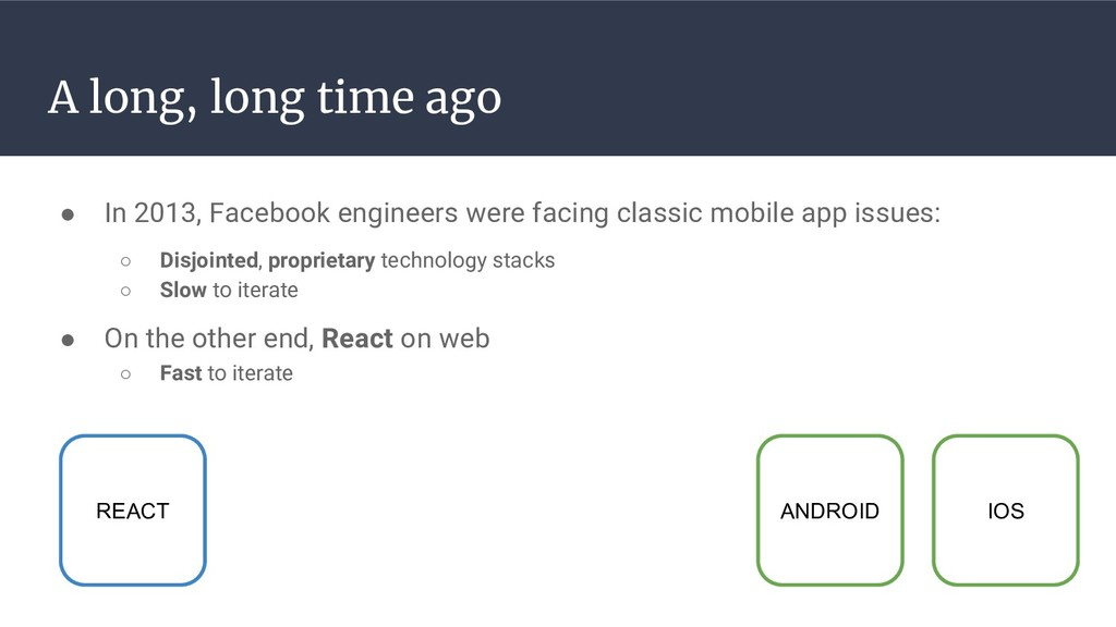 A long, long time ago ● In 2013, Facebook engin...