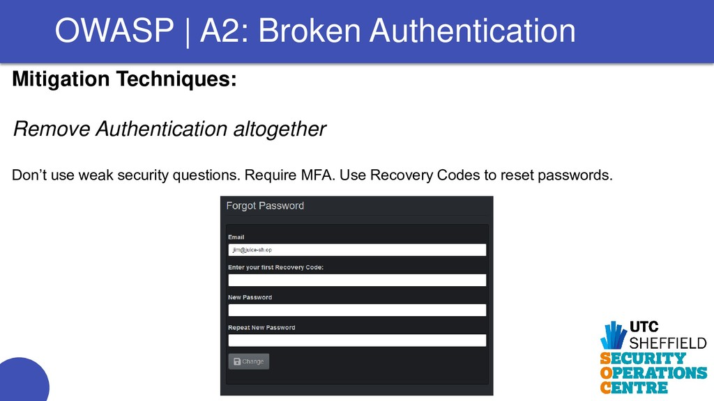 Mitigation Techniques: Remove Authentication al...