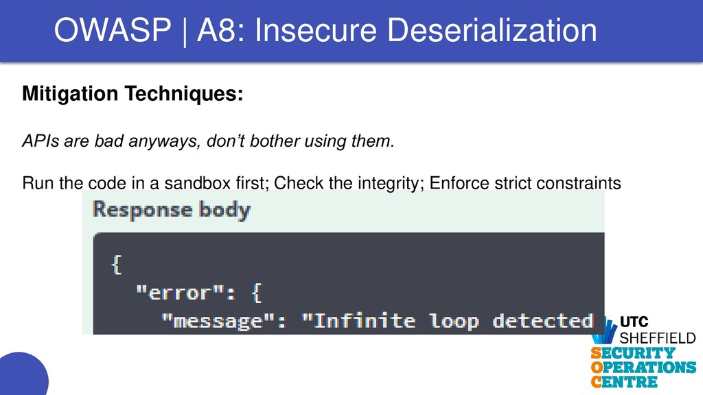 Mitigation Techniques: APIs are bad anyways, do...