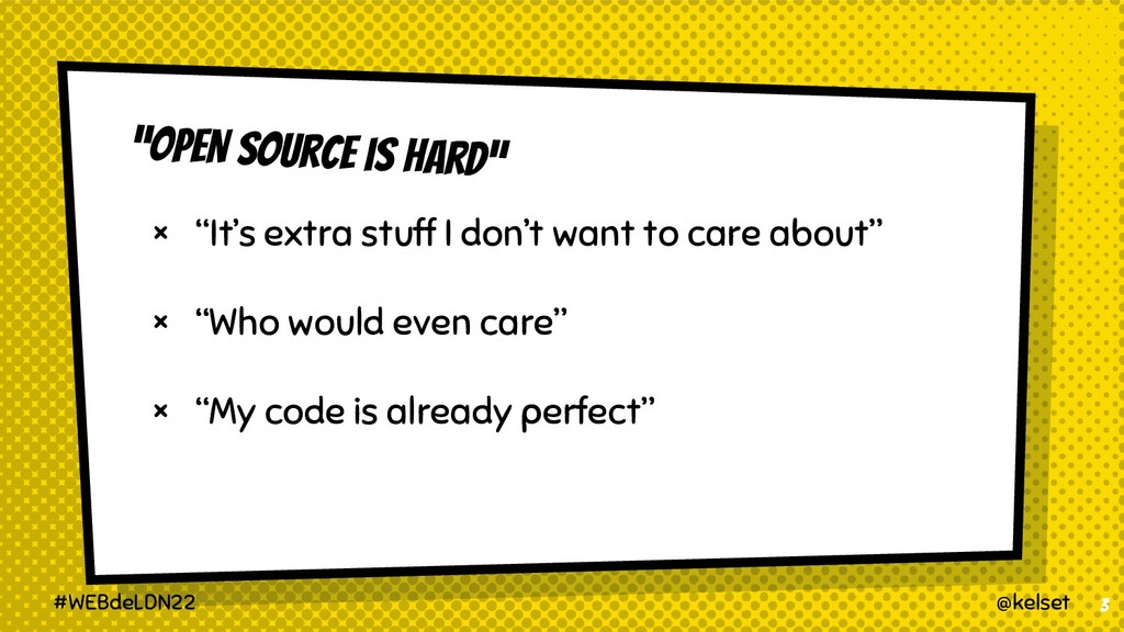 """""""OPEN SOUrce is hard"""" × """"It's extra stuff I don..."""