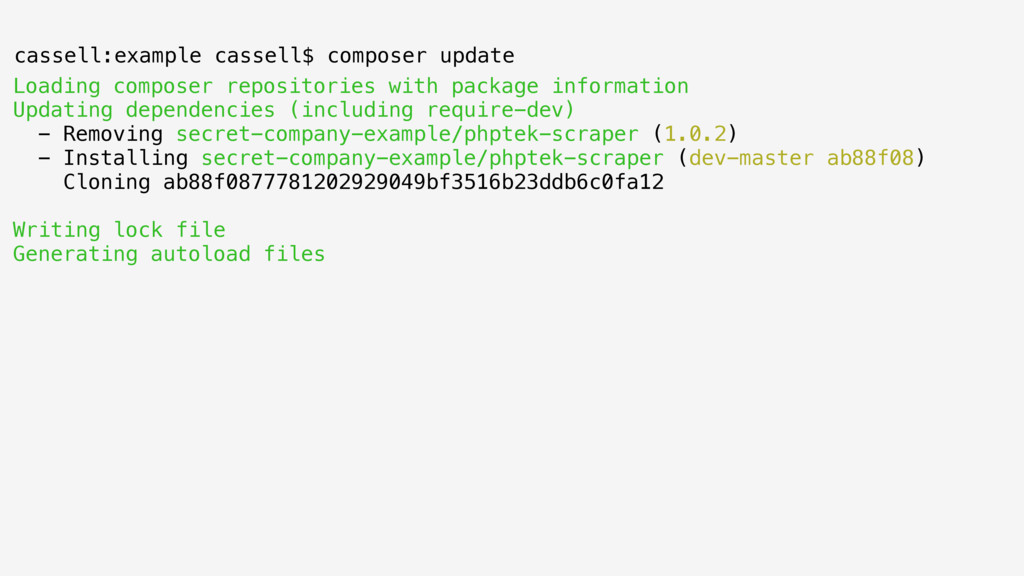 Loading composer repositories with package info...