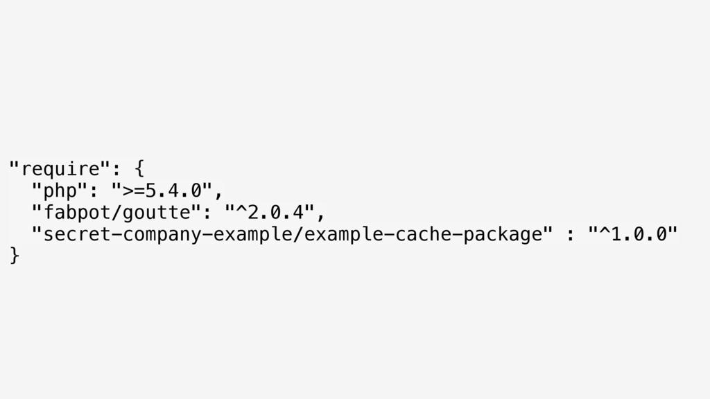 """require"": { ""php"": "">=5.4.0"", ""fabpot/goutte..."