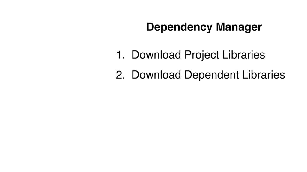 Dependency Manager 1. Download Project Librarie...