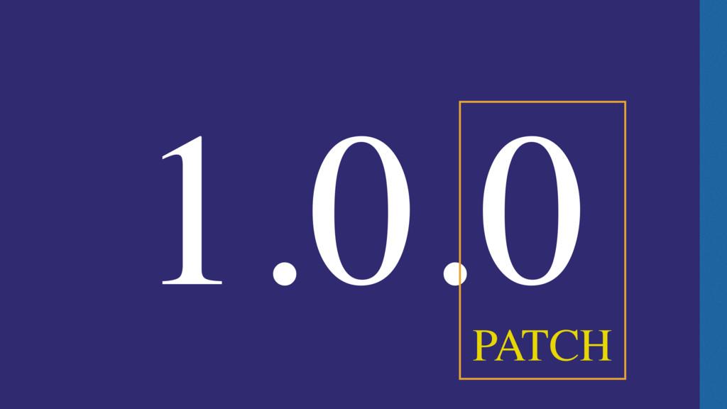 1.0.0 PATCH