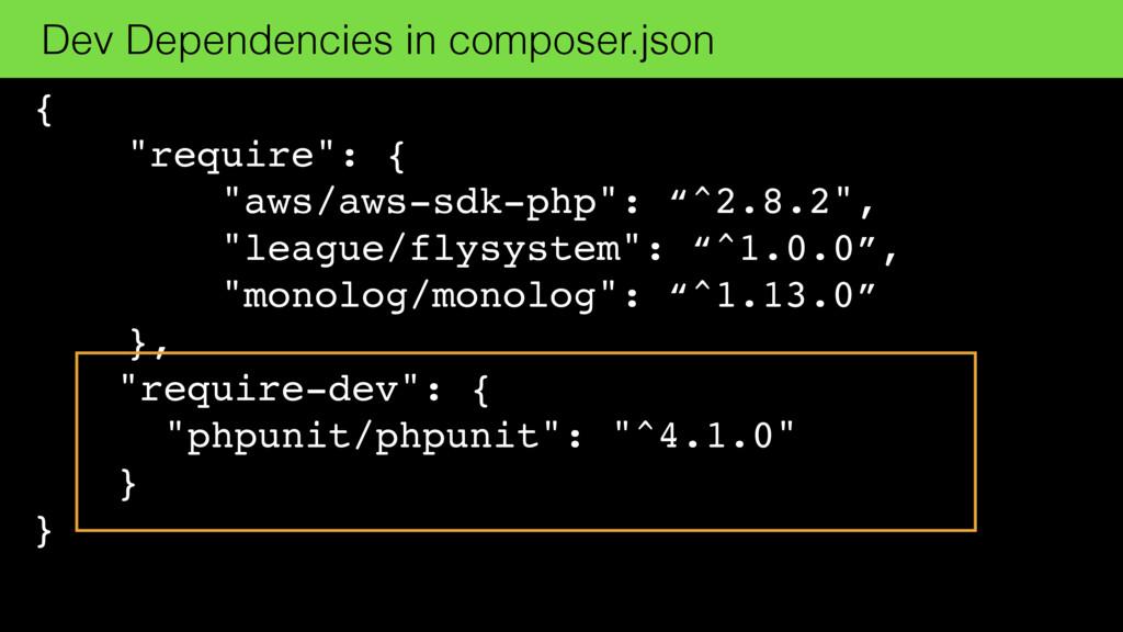 """{ """"require"""": { """"aws/aws-sdk-php"""": """"^2.8.2"""", """"le..."""
