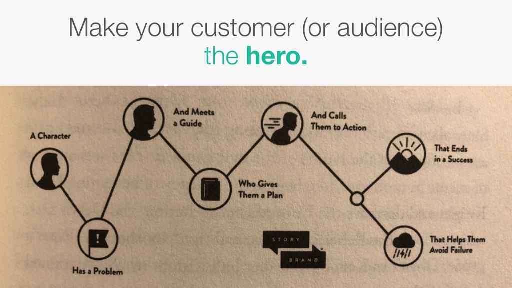 Make your customer (or audience) the hero.