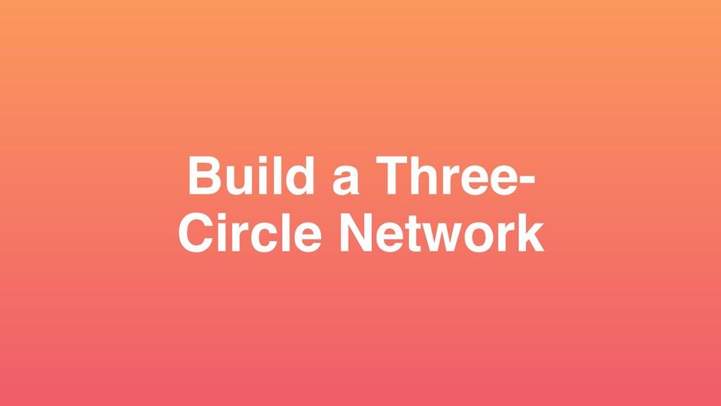 Build a Three- Circle Network