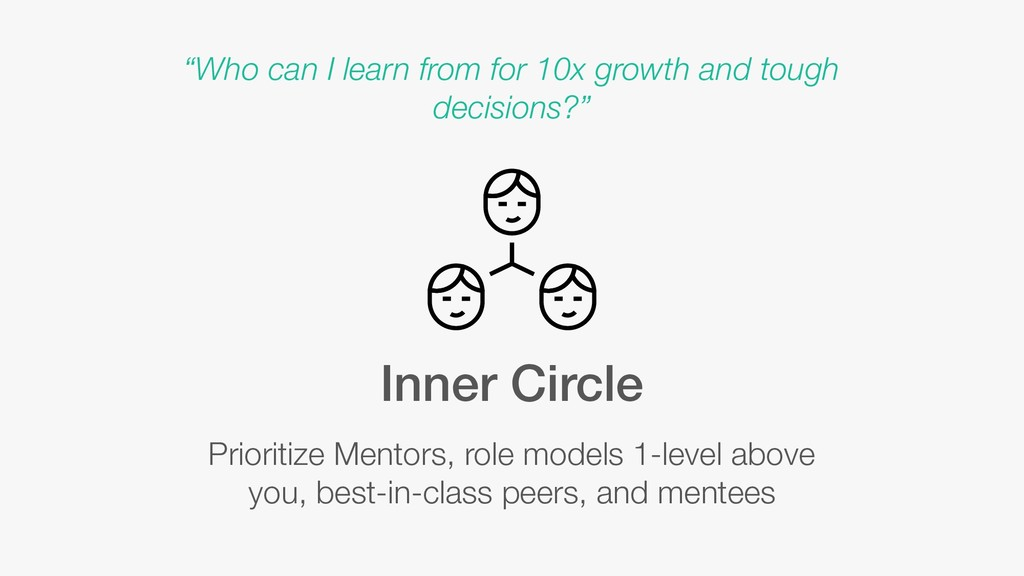 Inner Circle Prioritize Mentors, role models 1-...