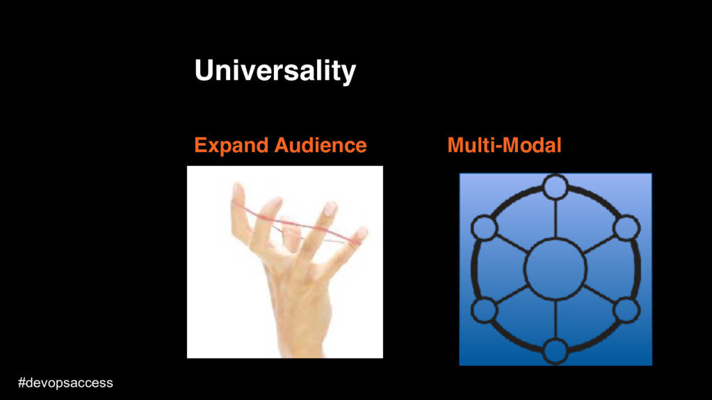 Universality Expand Audience How could someone ...