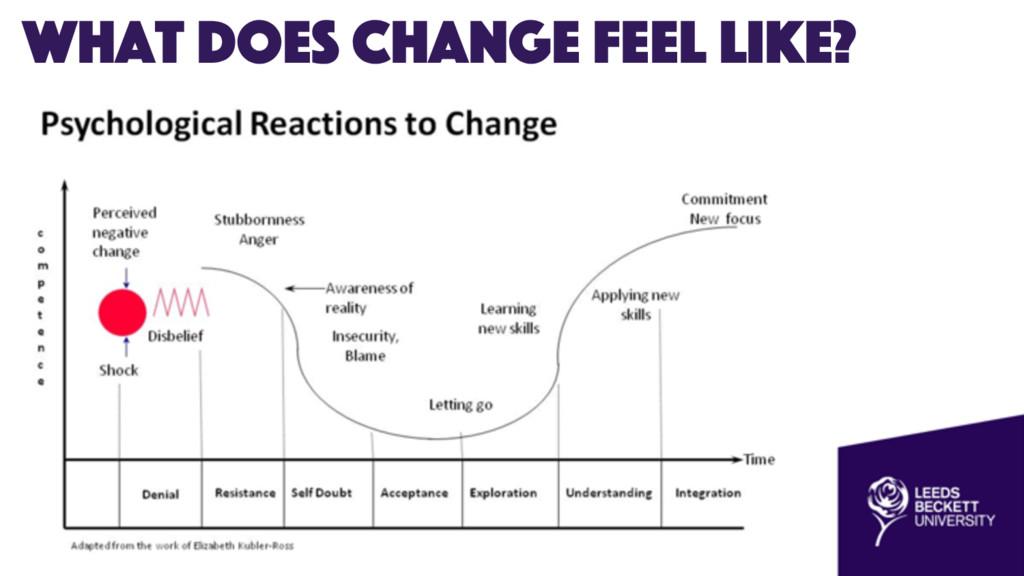 What does change feel like?