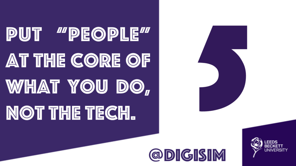 """5 put """"people"""" at the core of what you do, not ..."""