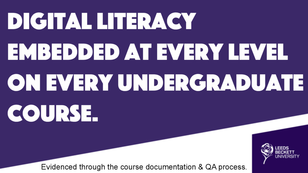 digital literacy embedded at every level on eve...