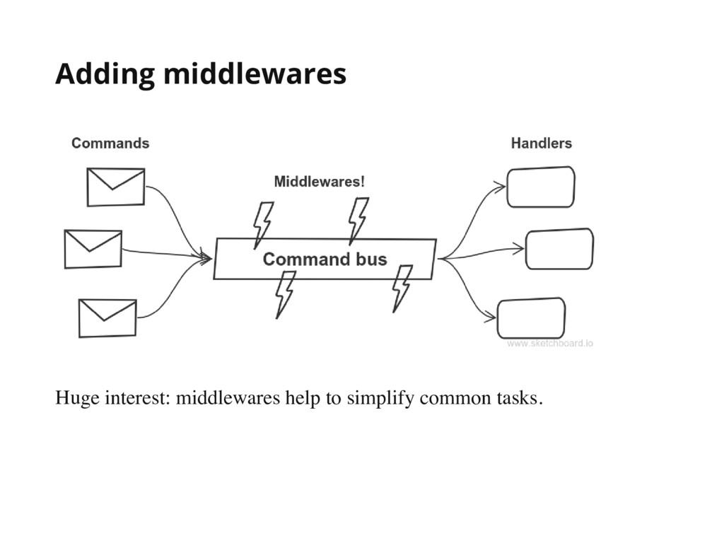 Adding middlewares Huge interest: middlewares h...