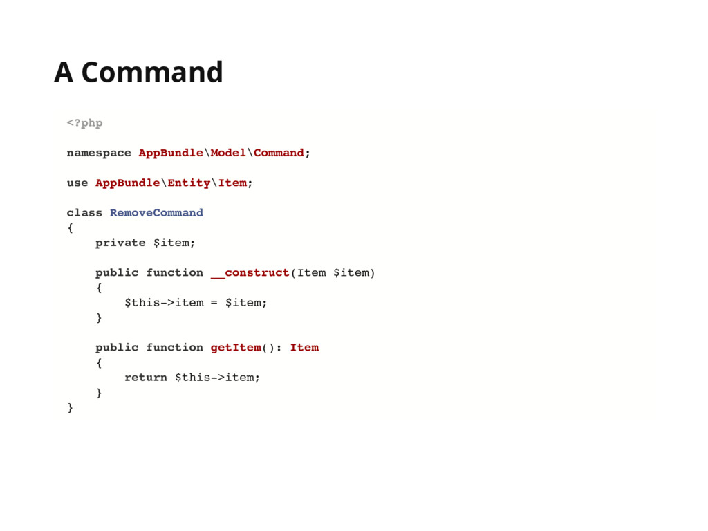 A Command <?php namespace AppBundle\Model\Comma...