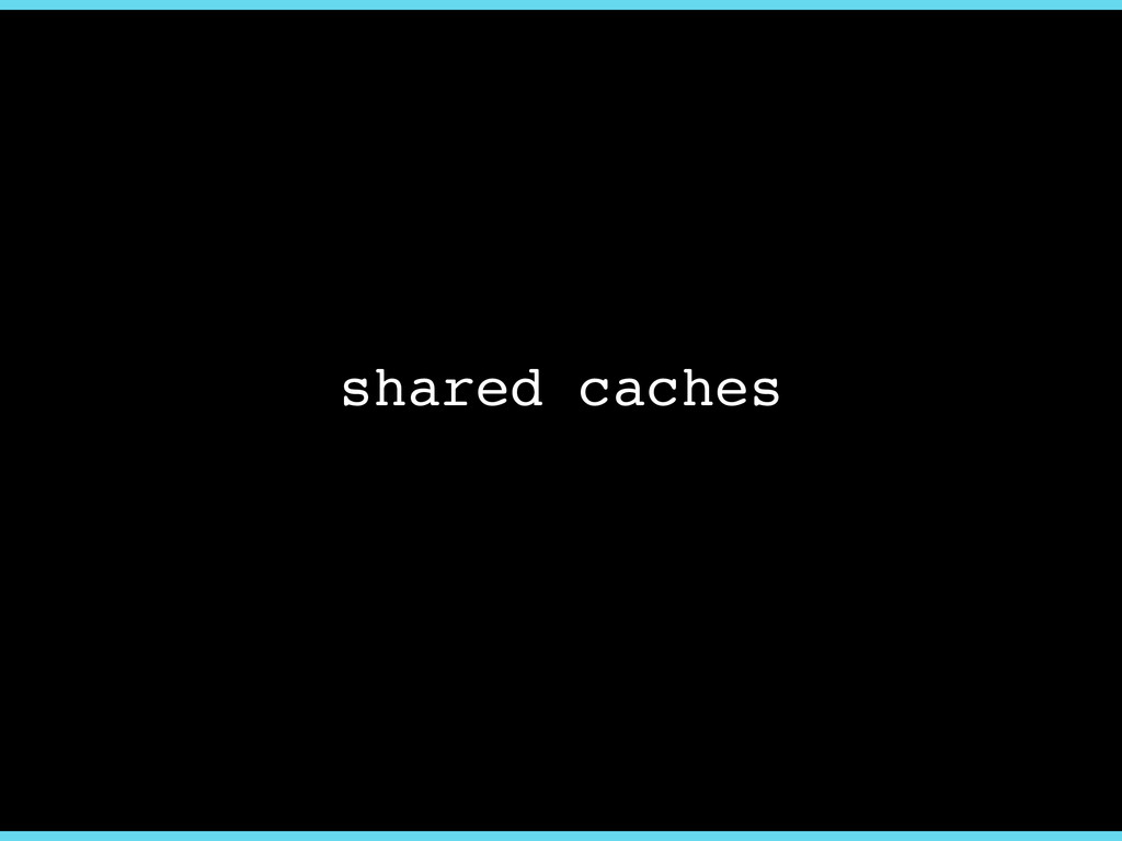 shared caches