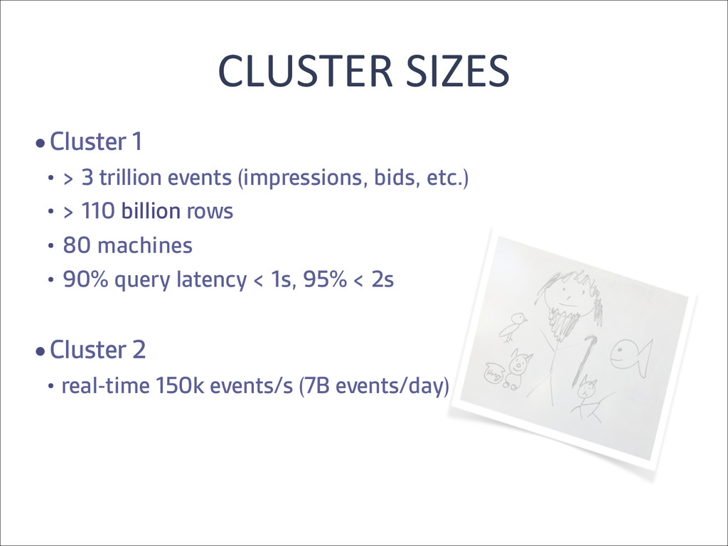 CLUSTER SIZES  •Cluster 1   • > 3 tri...