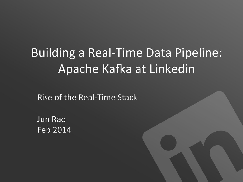 Building a Real-‐Time Data Pipelin...