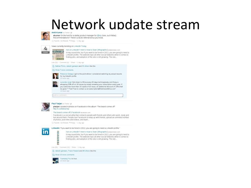 Network update stream