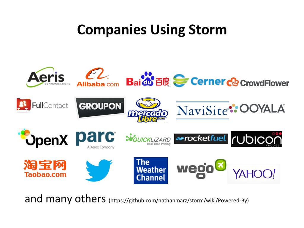 Companies Using Storm  and many ...