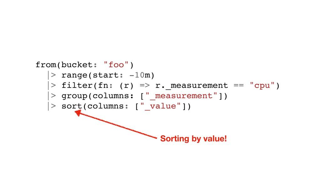 "from(bucket: ""foo"") |> range(start: -10m) |> fi..."