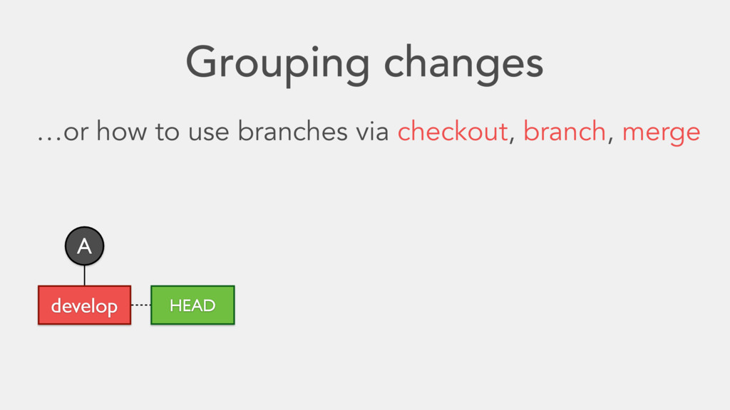 Grouping changes …or how to use branches via ch...