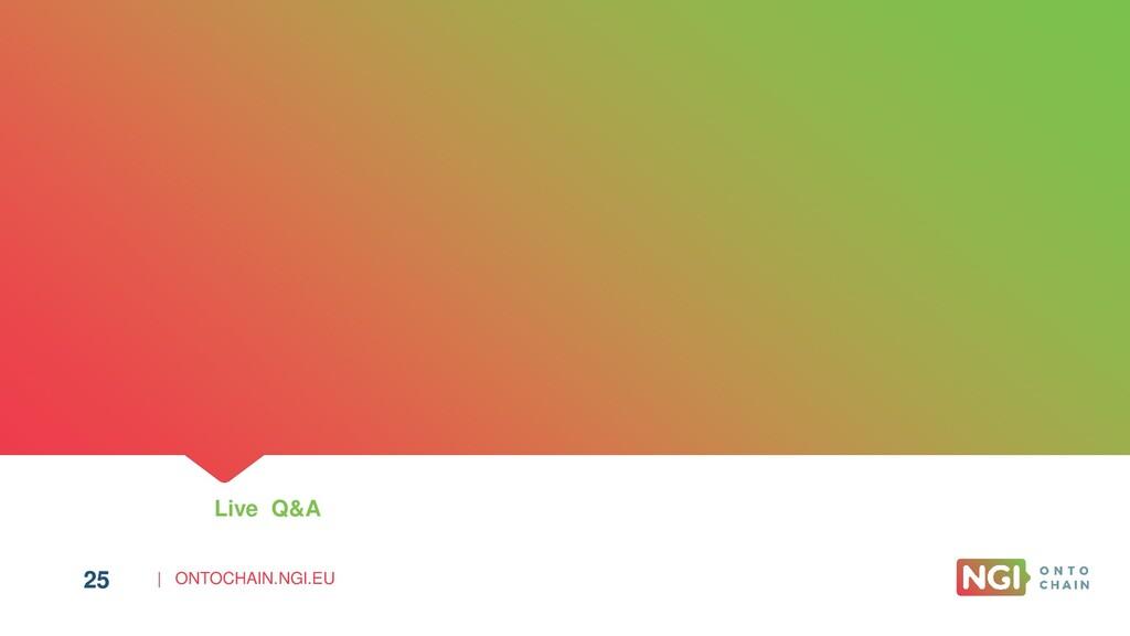 | ONTOCHAIN.NGI.EU 25 Live Q&A 25