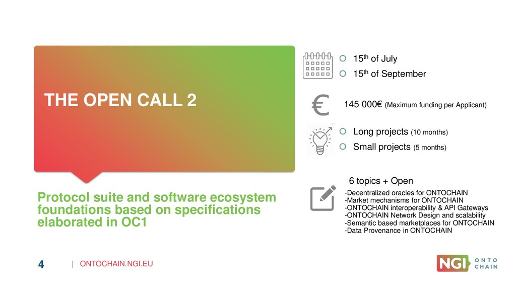 | ONTOCHAIN.NGI.EU 4 THE OPEN CALL 2 Protocol s...