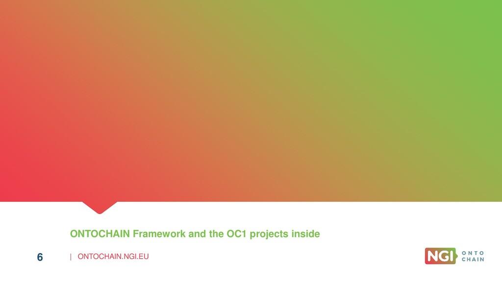 | ONTOCHAIN.NGI.EU 6 ONTOCHAIN Framework and th...