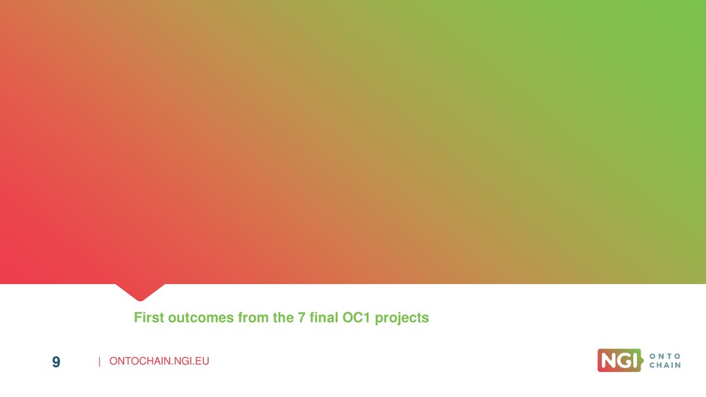 | ONTOCHAIN.NGI.EU 9 First outcomes from the 7 ...