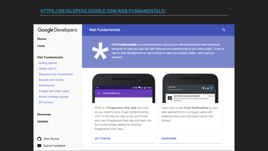 HTTPS://DEVELOPERS.GOOGLE.COM/WEB/FUNDAMENTALS/