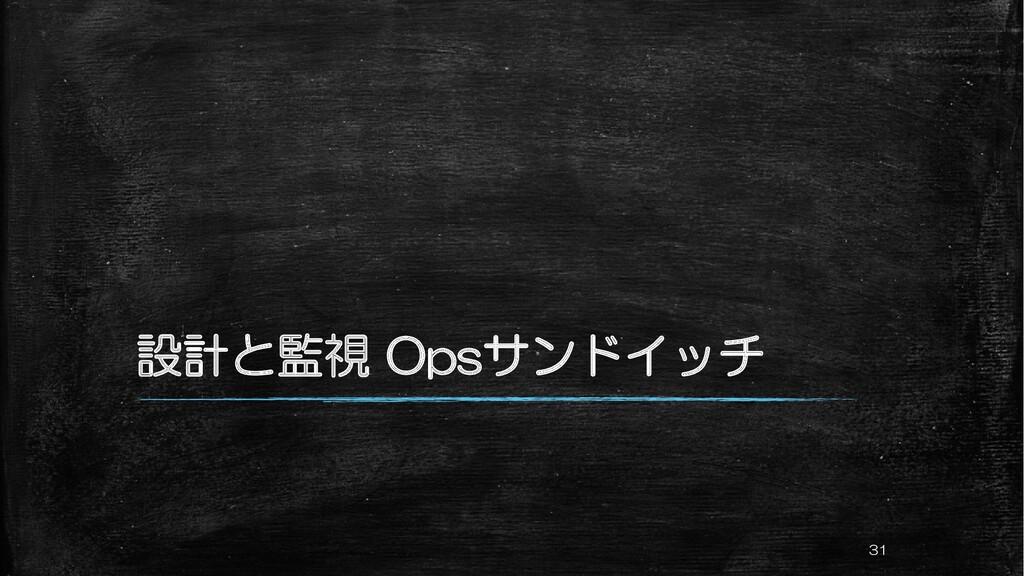 設計と監視 Opsサンドイッチ 31