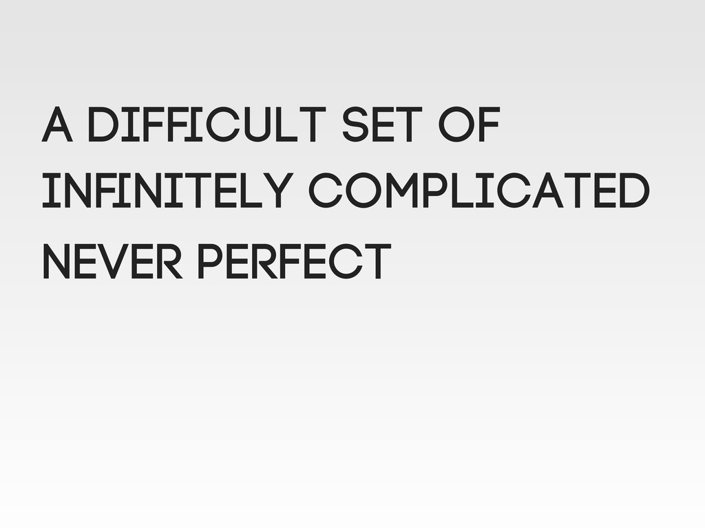 A difficult set of Infinitely complicated NEVER p...