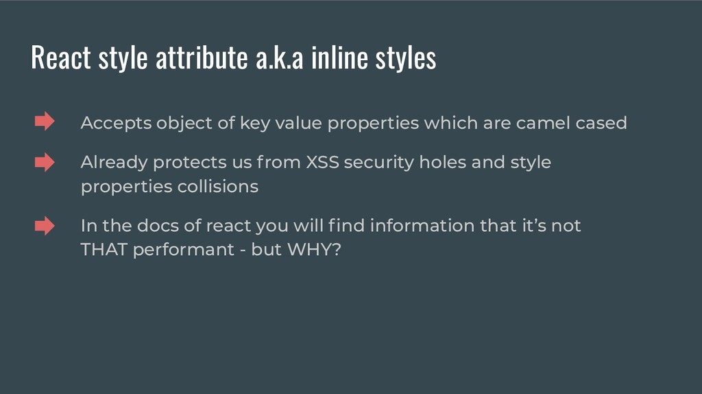 React style attribute a.k.a inline styles Accep...