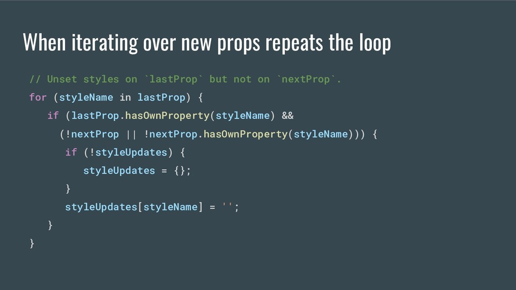 // Unset styles on `lastProp` but not on `nextP...