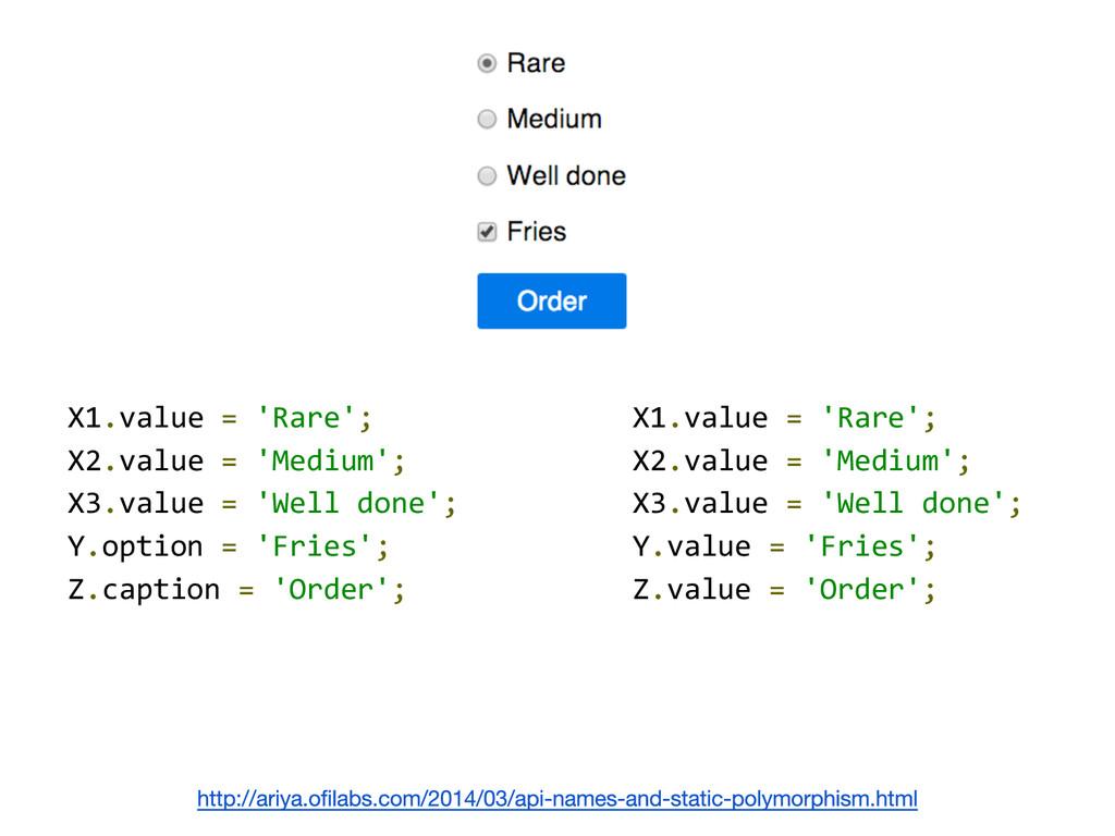 X1.value = 'Rare'; X2.value = 'Medium'; X3.valu...